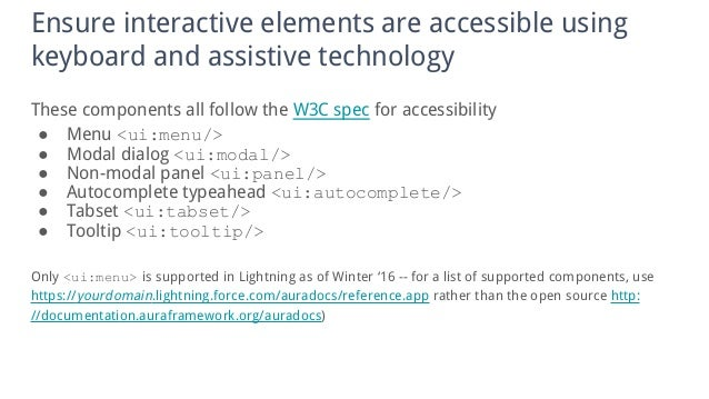 Accessible Salesforce