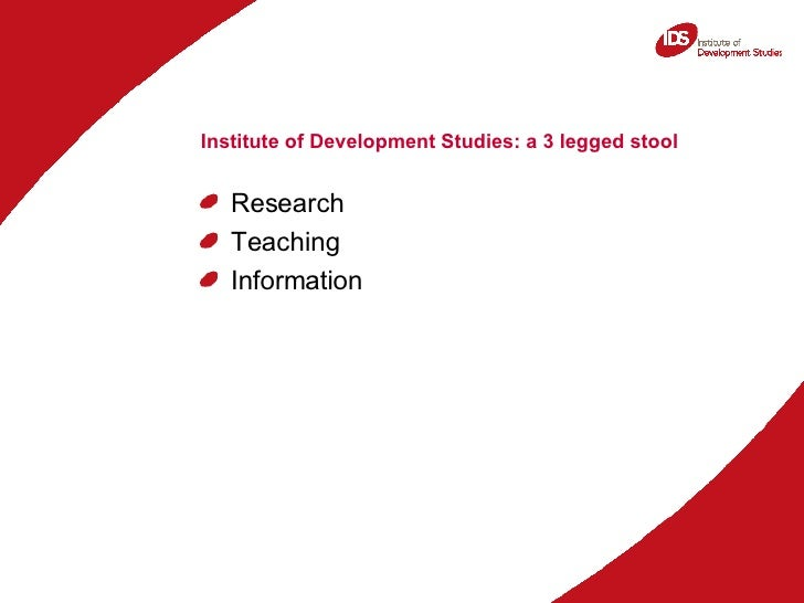 Accessing, sharing and using development research information: The role of intermediaries Slide 2