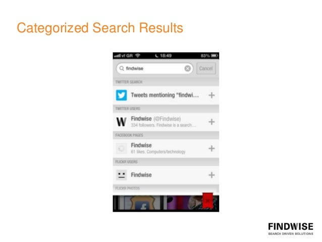 Categorized Search Results
