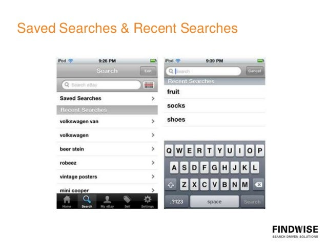 Saved Searches & Recent Searches