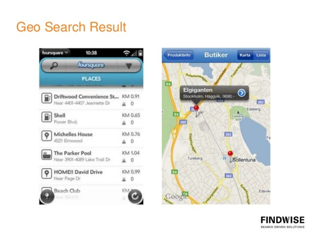 Geo Search Result