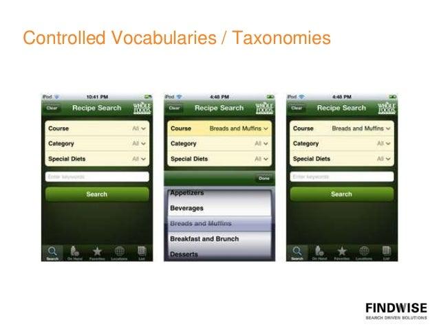 Controlled Vocabularies / Taxonomies