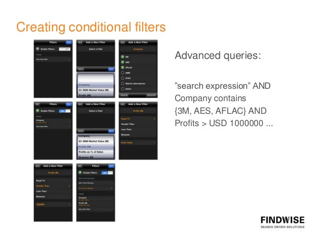 """Creating conditional filters                               Advanced queries:                               """"search express..."""