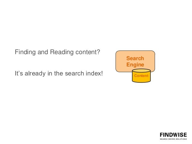 Finding and Reading content?                                    Search                                    EngineIt's alrea...
