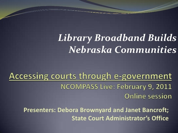 NCompass Live: Accessing Courts through E-Government