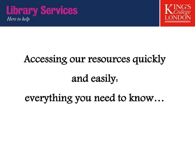 Accessing our resources quickly and easily: everything you need to know…