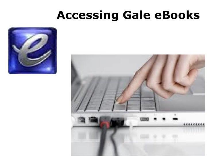 Accessing Gale eBooks