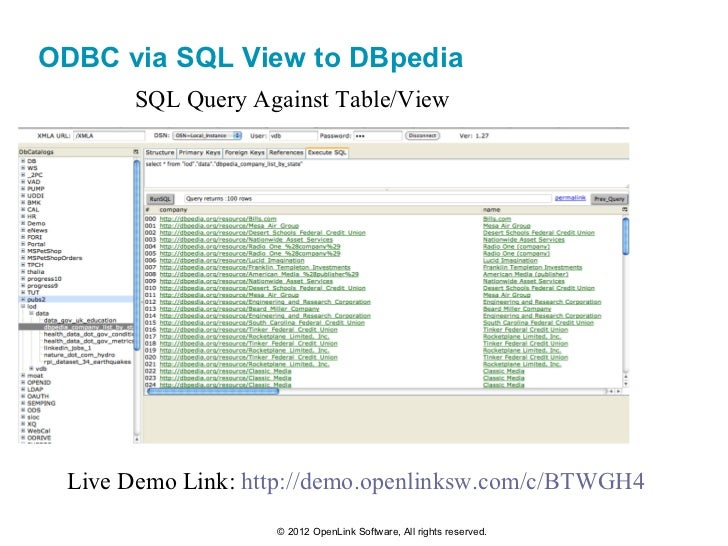 Accessing the Linked Open Data Cloud via ODBC