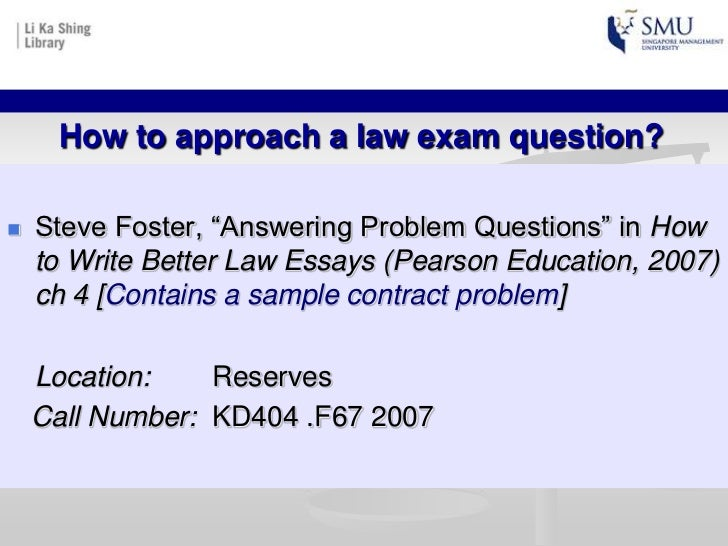 law answers to essay questions chapter Looking out for your assessment answers online grab the opportunity to find free assignment answers related to all subjects in your academic browse and find millions of answers from every subject to improve your grade.