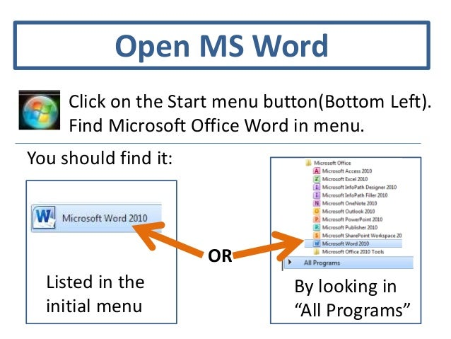 Accessing Resume Templates In MS Word 2010; 2.  Microsoft Office Menu Templates