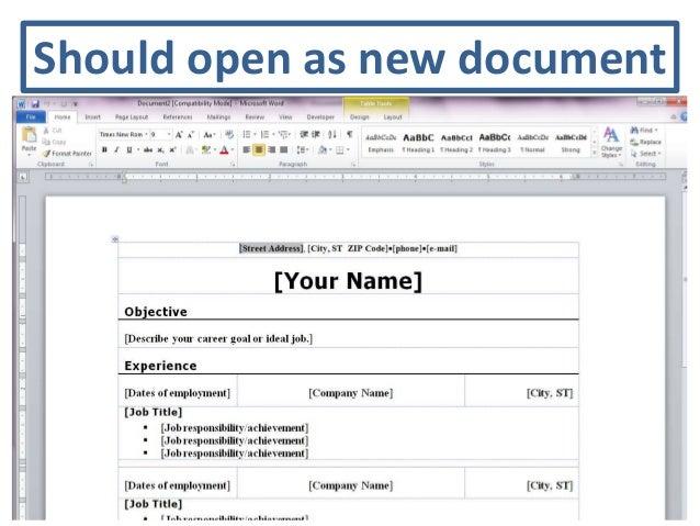 Resume Templates Word 2010 - 50 Free Microsoft Word Resume ...