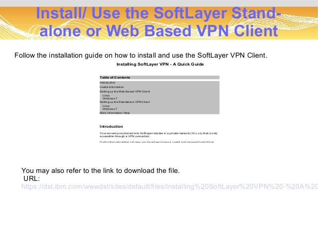 softlayer vpn client