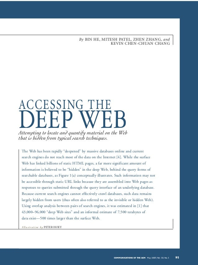 Accessing the deep web (2007)
