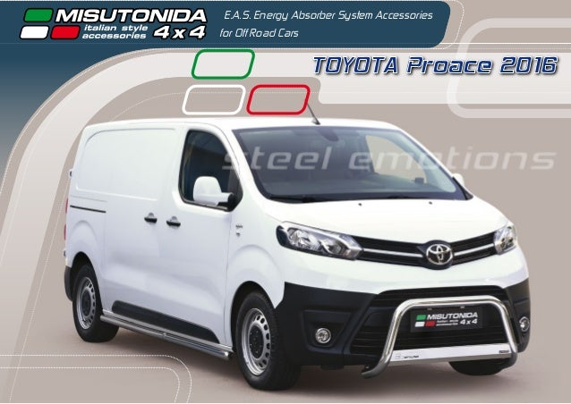 TOYOTA Proace 2016 E.A.S. Energy Absorber System Accessories for Off Road Cars steel emotions