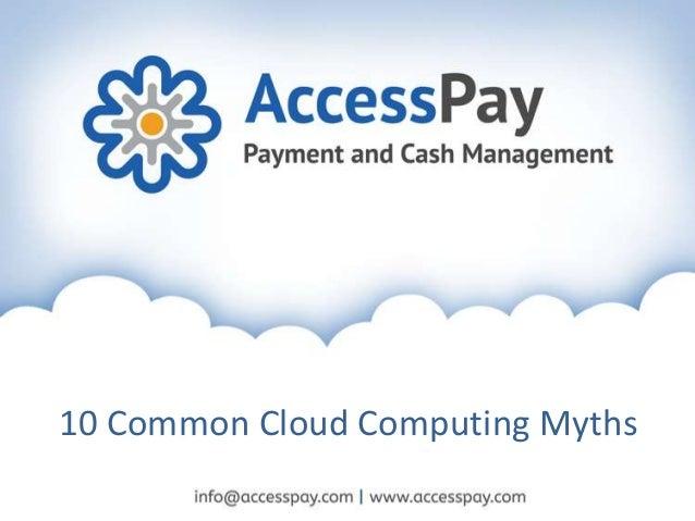 10 Common Cloud Computing Myths