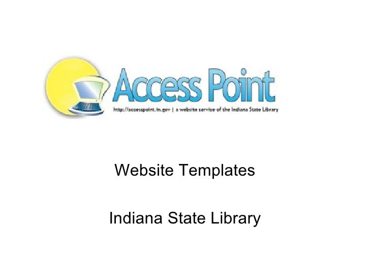 Website Templates Indiana State Library