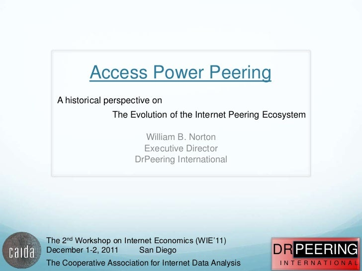 Access Power Peering   A historical perspective on                  The Evolution of the Internet Peering Ecosystem       ...