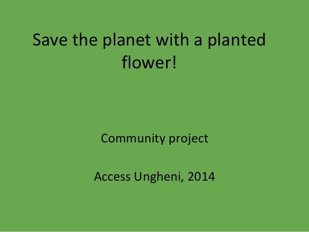 Save the planet with a planted flower! Community project Access Ungheni, 2014