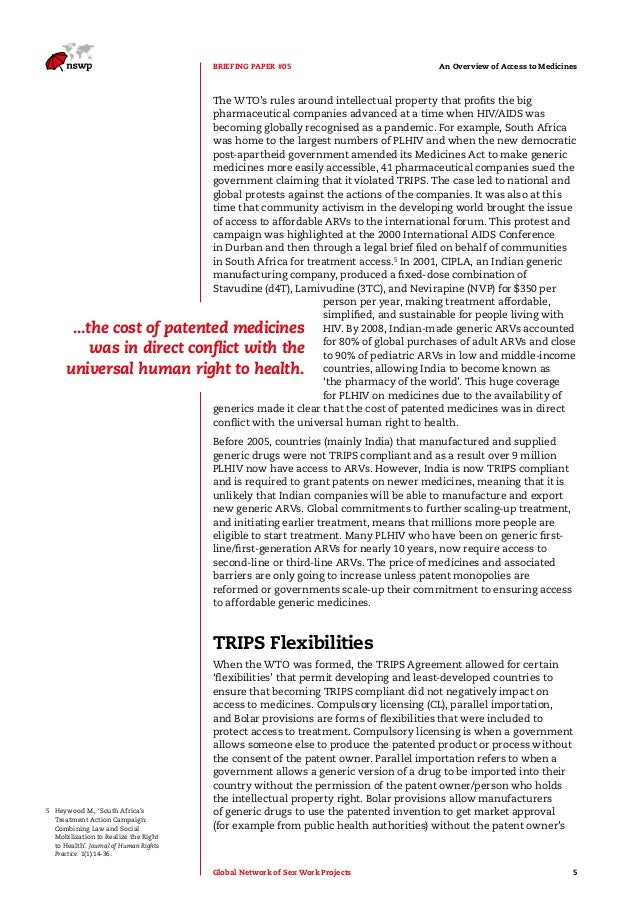 trips agreement with reference to less - the trips agreement introduced intellectual property law into the international trading system a claim in multiple dependent form shall contain a reference.