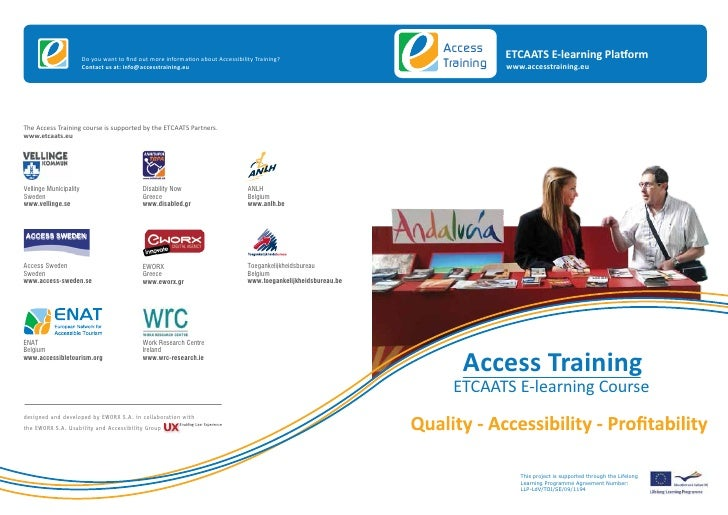 Access     ETCAATS E-learning Platform                        Do you want to find out more information about Accessibility ...