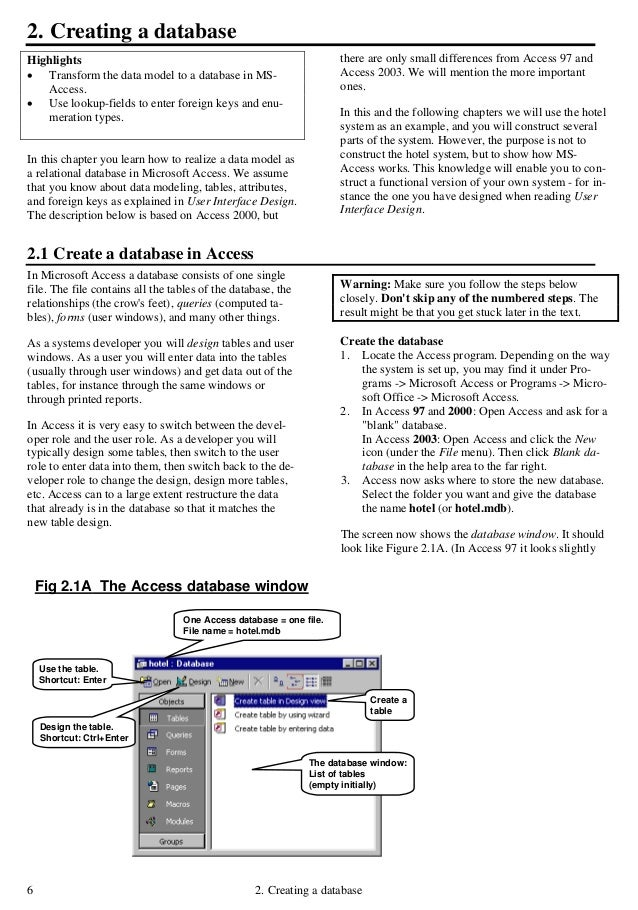 Access tutorial