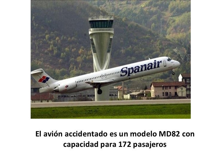 El avión accidentado es un modelo MD82 con capacidad para 172 pasajeros