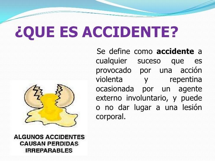 Accidente, incidente y peligro