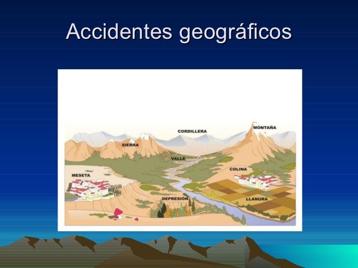 Accidentes geográficos