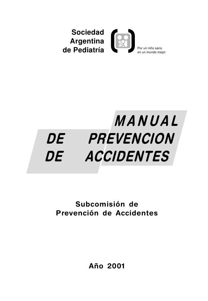 Sociedad     Argentina                     Por un niño sano   de Pediatría      en un mundo mejor                 MANUAL D...