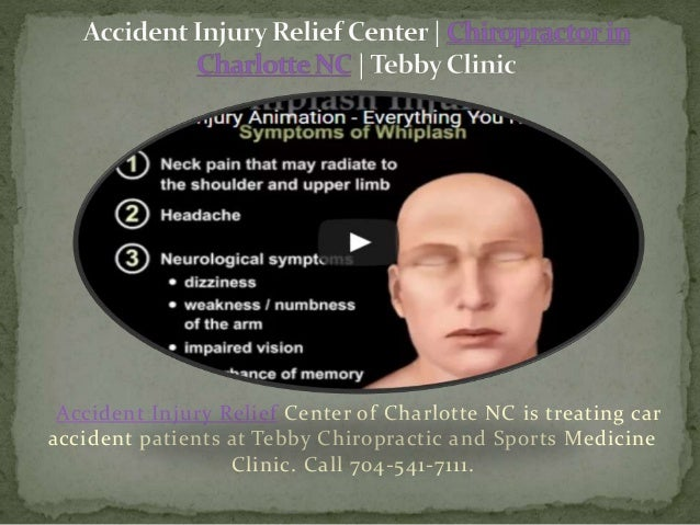 accident injury relief center chiropractor in charlotte nc tebby