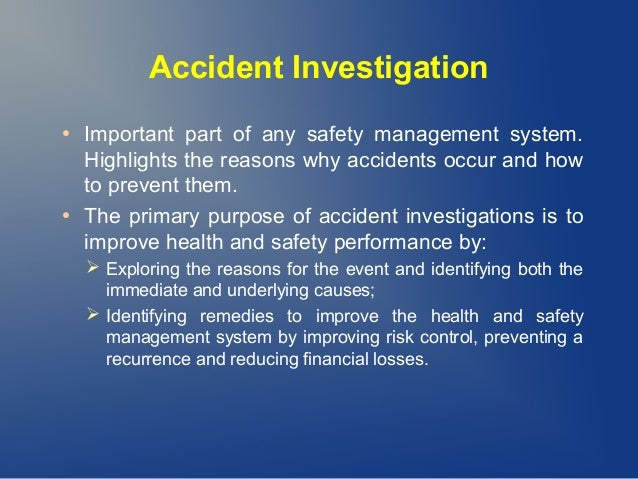 accident investigation essay Syllabus – incident report writing for criminal justice reliable  custom essays, writing a business report, help with college essay, college.