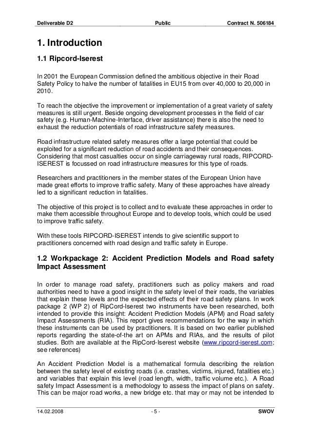 Accident Prediction Models