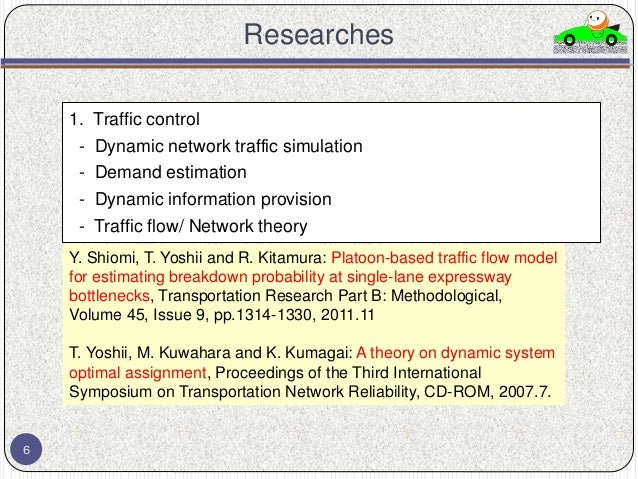 traffic flow theory and simulation dating