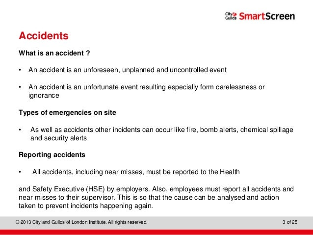 difference between accident and incident in childcare