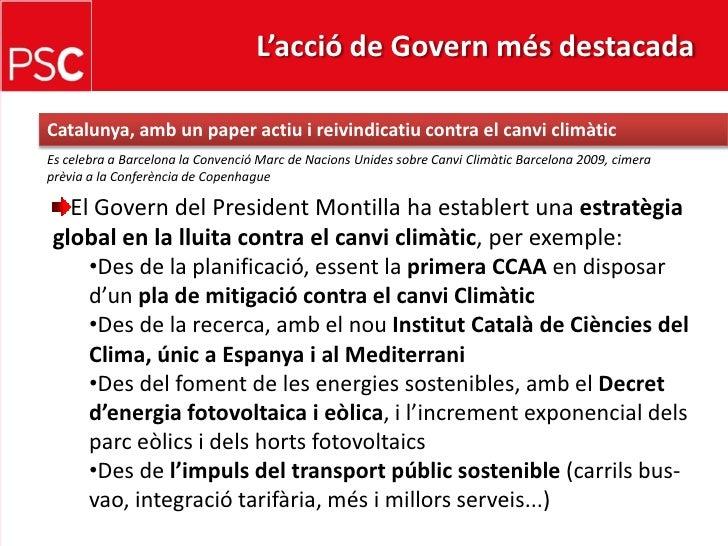 L'acció de Govern més destacada <br />Catalunya, ambunpaperactiu i reivindicatiu contra el canviclimàtic<br />Es celebra a...
