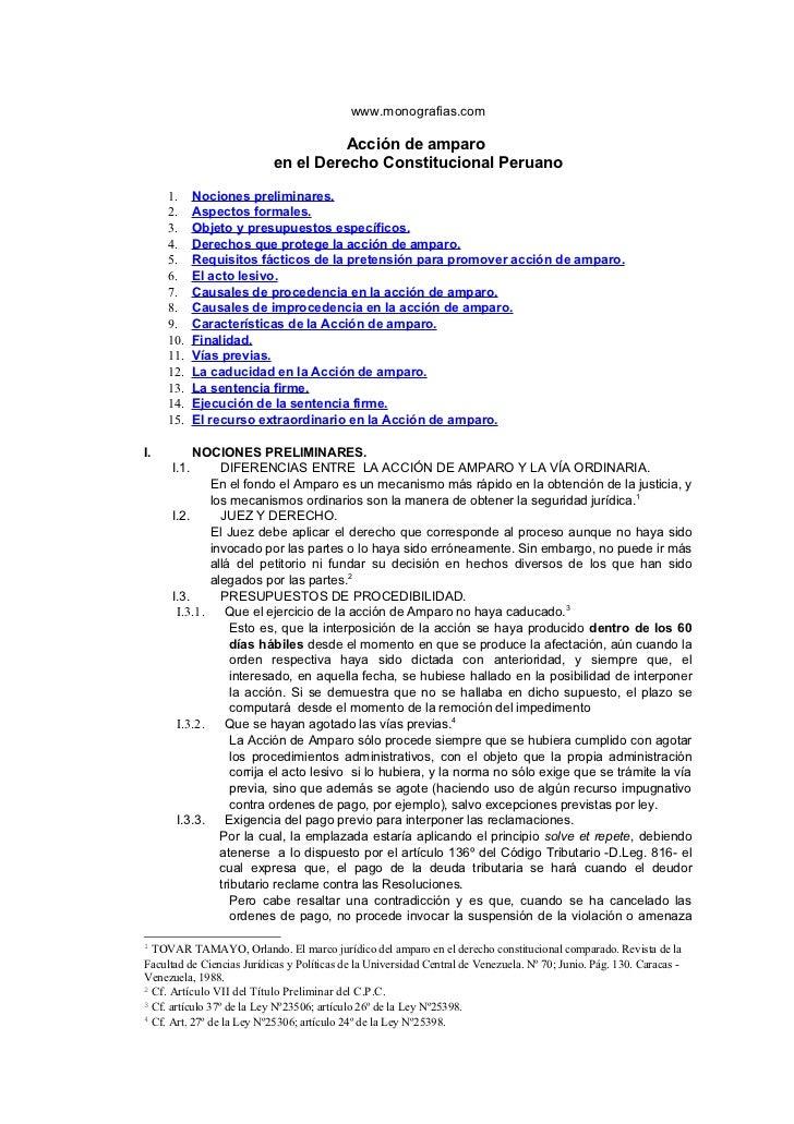 www.monografias.com                                     Acción de amparo                           en el Derecho Constituc...