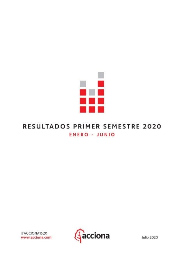 Resultados 1S 2020 (enero – junio) 2 ÍNDICE 1. RESUMEN EJECUTIVO 2. SOSTENIBILIDAD 3. CUENTA DE PÉRDIDAS Y GANANCIAS CONSO...