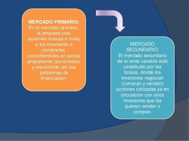 MERCADO PRIMARIO: En el mercado primario, la empresa crea acciones nuevas e invita a los inversores a comprarlas, convirti...
