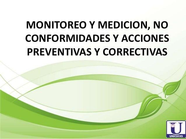 Acciones correctivas y acciones preventivas Slide 3