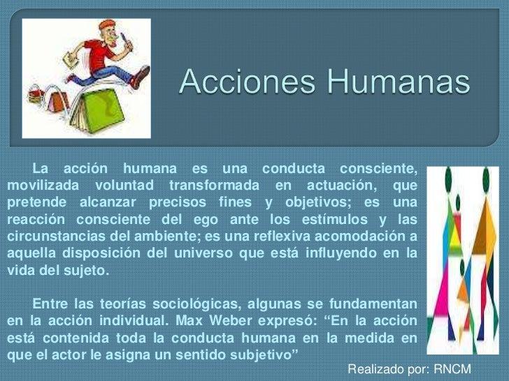 Acciones humanas Slide 2