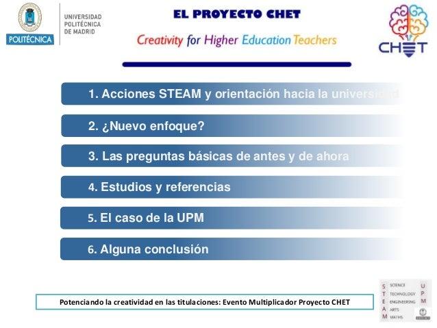 Acciones STEAM para alumnos de nuevo ingreso  Slide 2
