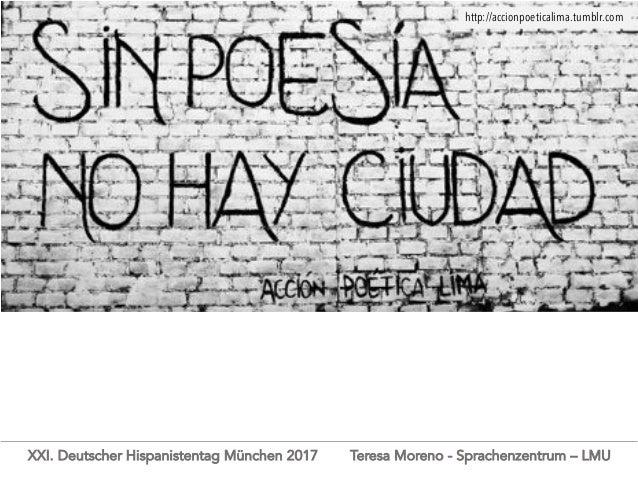De la calle a la clase de español y de vuelta a la calle XXI. Deutscher Hispanistentag München 2017 La experiencia de Acci...