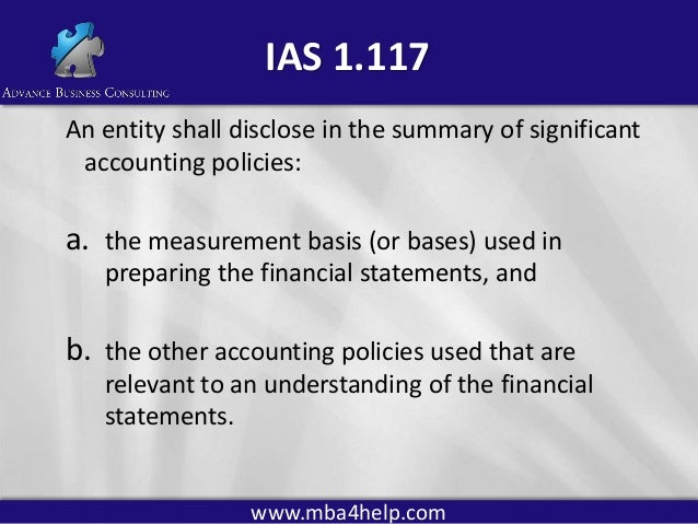 International accounting conclusion
