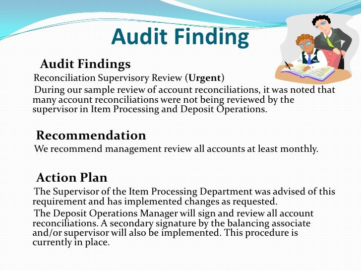 audit finding response template