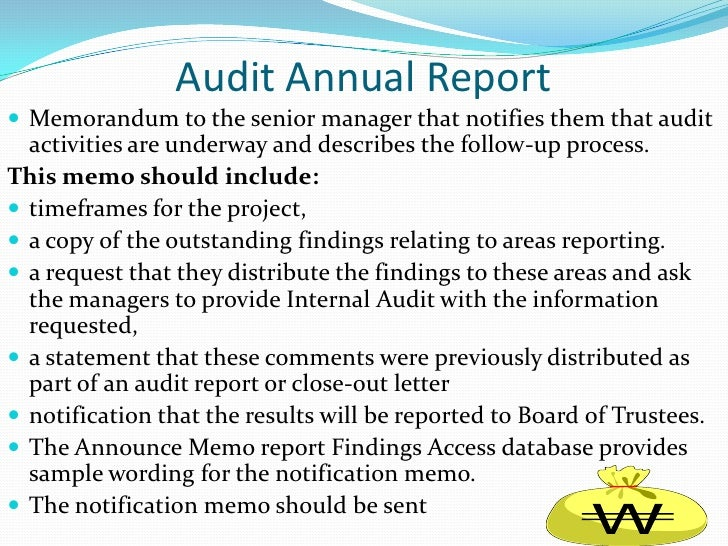 Audit Memo. 3 Acc 491 Week 5 Learning Team Assignment Audit