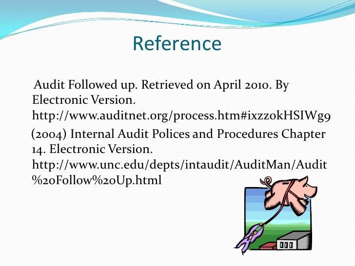 internal audit letter