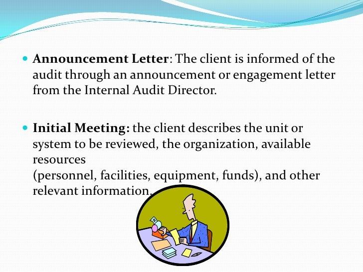 Internal audit announcement letter sample