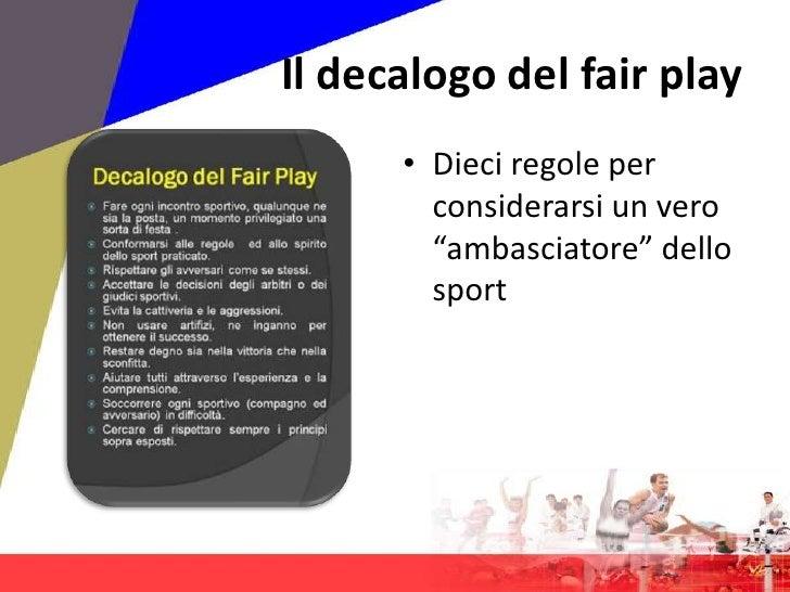 decalogo del fair play