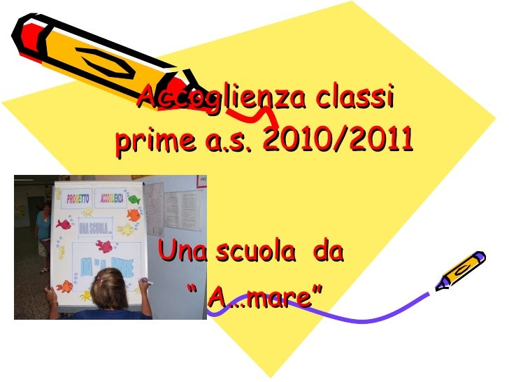 """Accoglienza classi prime a.s. 2010/2011 Una scuola  da  """"  A…mare"""""""