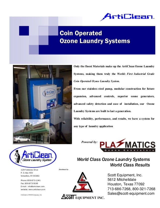 Coin Operated                                  Ozone Laundry Systems                                                    On...